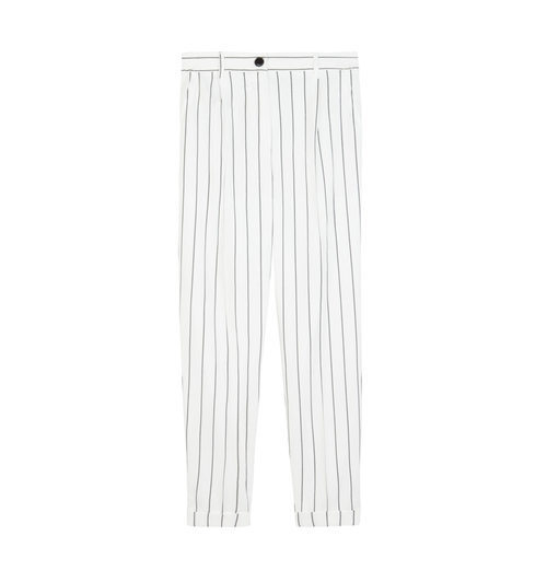 Pantalón blanco de rayas de Bershka de la colección de verano 2017