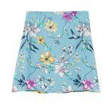 Minifalda azul con flores de Bershka de la colección de verano 2017
