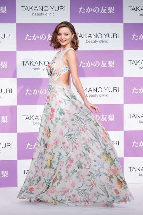 Miranda Kerr con vestido floral