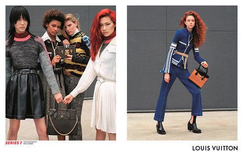 Natalie Westling o Alexandra Micu en la campaña otoño/ Invierno 2017/2018 de Louis Vuitton