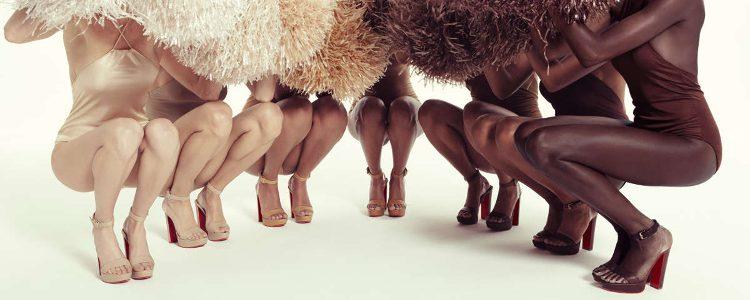 Colección nude de sandalias de Christian Louboutin 2017