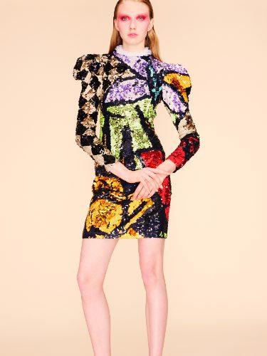 Vestido multicolor de la colección primavera 2018 de Nina Ricci