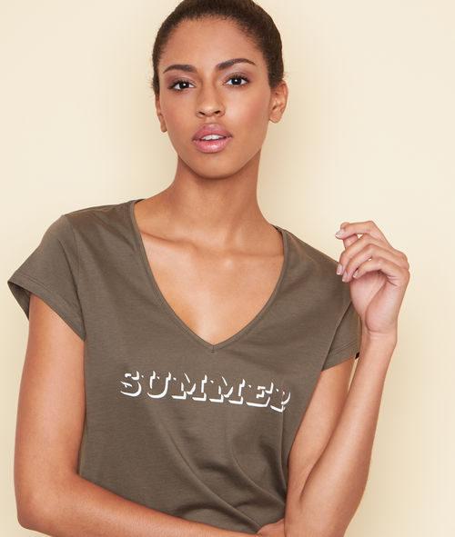 Camiseta color caqui de la colección 'Swildens x Etam' para el verano 2017