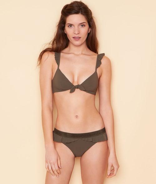 Bikini color caqui de la colección 'Swildens x Etam' para el verano 2017