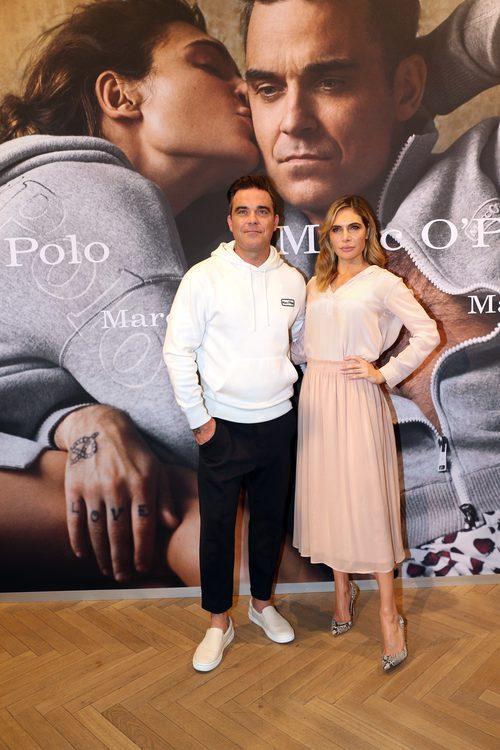 Robbie Williams junto a su mujer Ayda en el 50 aniversario de MARCO O´POLO