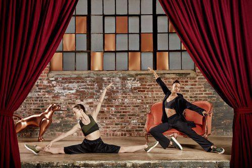 Bailarinas del NYC Ballet con ropa deportiva de la 'Velvet Rope Collection' de Puma