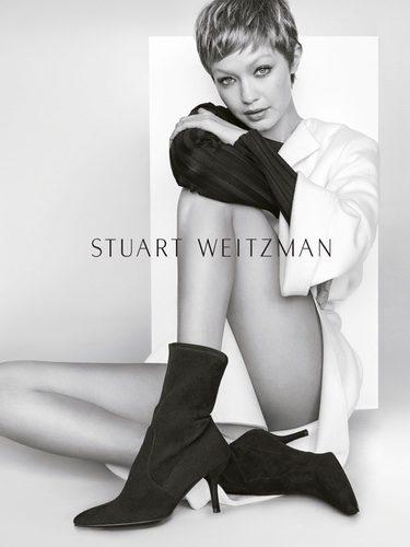 Gigi Hadid en la campaña otoño/invierno 2017/2018 de Stuart Weitzman