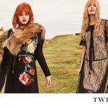 Stella Maxwell y Stella Lucia con estampados y encajes de la campaña 'On the road' de Twinset
