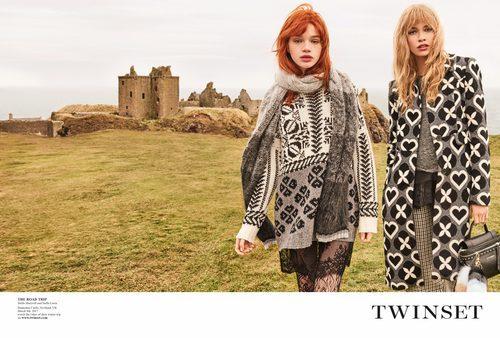 Stella Maxwell y Stella Lucia con diversos estampados de la campaña 'On the road' de Twinset