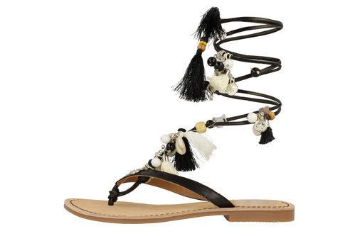Sandalias boho con tiras negras de la colección 'Bali' de Gioseppo