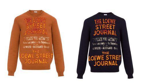 Jerséis  de la colección ' Street Journal' de Loewe 2017