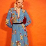 Vestido midi estampado de la colección 'Heaven' de Dolores Promesas