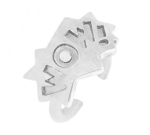 Anillo con diseño 'Wow' en plata de la colección ' The Powerpuff Girls x Apodemia'