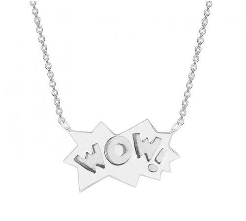 Colgante con diseño 'Wow' en plata de la colección ' The Powerpuff Girls x Apodemia'