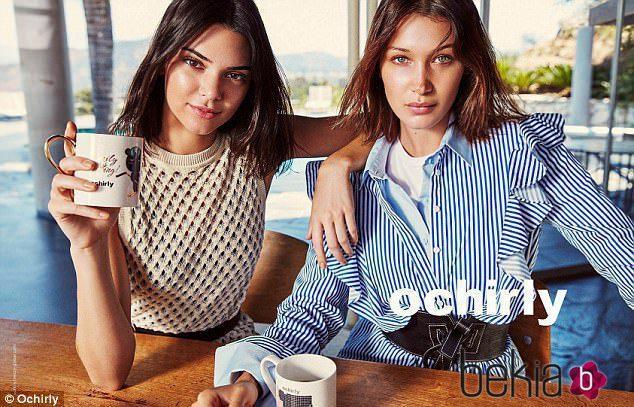 Kendall Jenner y Bella Hadid naturales en la última campaña de Ochirly 2017