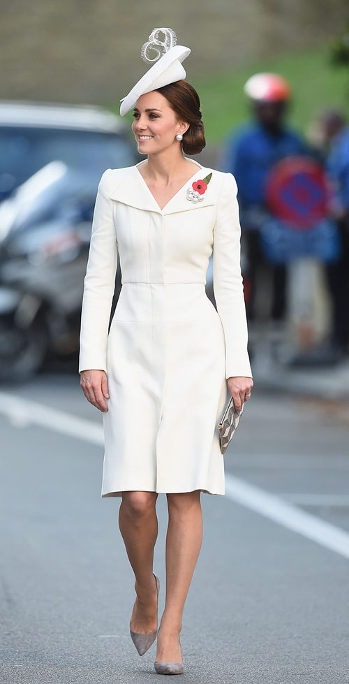 Kate Middleton con vestido y abrigo a juego