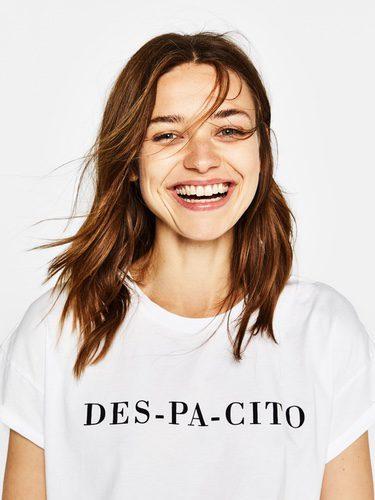 Camiseta blanca de 'Despacito' de la colección de verano 2017 de Bershka