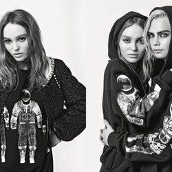 Campaña de la colección otoño/invierno 2017 de Chanel con Cara Delevingne y Lily-Rose Depp