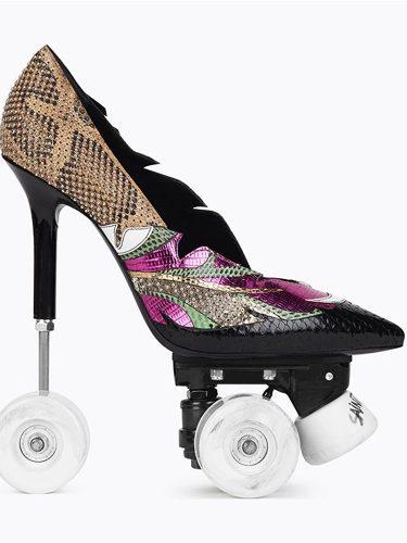 Stiletto con ruedas del otoño 2017 de Saint Laurent