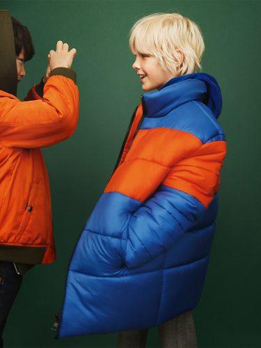 Abrigo de plumas azul de Zara Kids otoño/invierno 2017/2018