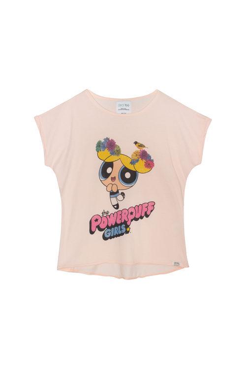 Camiseta rosa de Burbuja de la colección 'Supernenas by Dear Tee'