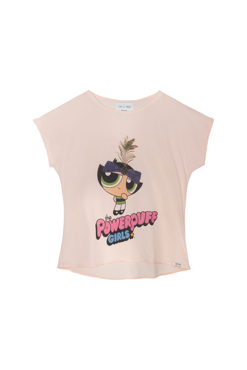 Camiseta rosa de Cactus de la colección 'Supernenas by Dear Tee'
