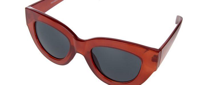 Gafas de sol de ojo de gato rojas de la colección de Pull&Bear