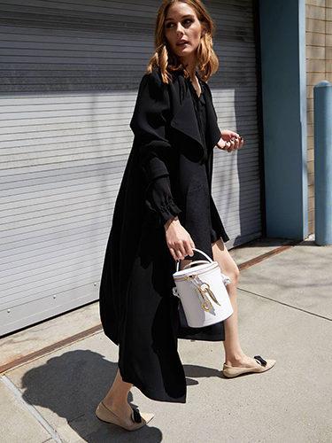 Bolso blanco de la colección 'Olivia Palermo x Meli Melo Collection'