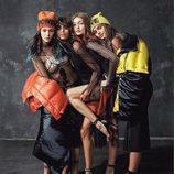 Gigi Hadid, Taylor Hill, Mica Argañaraz y Vittoria Ceretti en la campaña otoño/invierno 2017/2018 de Versace