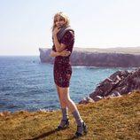 Elsa Pataky luciendo unas sandalias verdes de la colección otoño/invierno 2017/2018 de Gioseppo