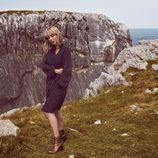 Elsa Pataky con unas botas cobrizas de la colección otoño/invierno 2017/2018 de Gioseppo