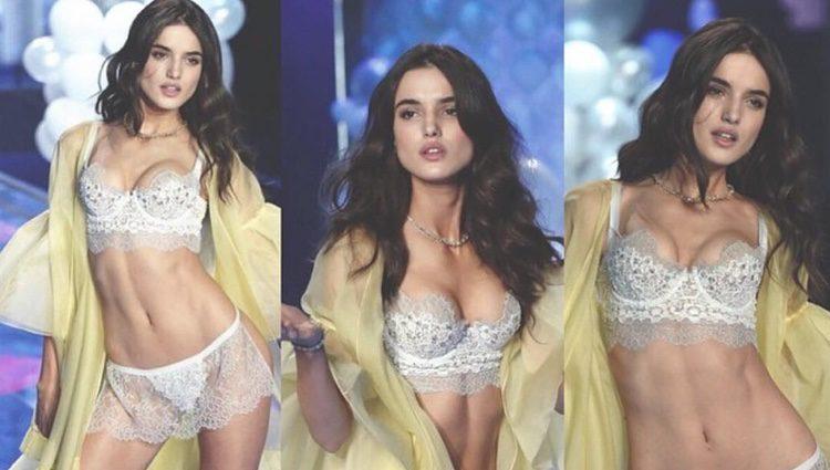 Blanca Padilla desfilando para Victoria's Secret en el año 2014
