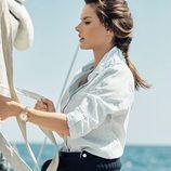 Alessandra Ambrosio posando para la nueva colección náutica de Omega