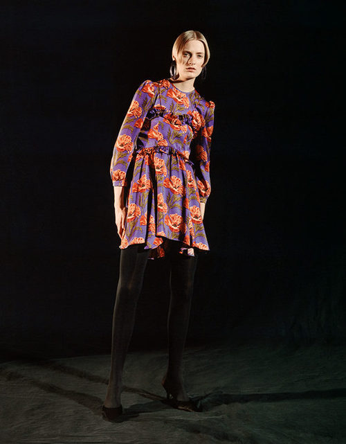 Vestido mini estampado de Sfera otoño/invierno 2017/2018
