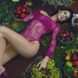 Kendall Jenner posando con la colección otoño/invierno 2017/2018 de La Perla