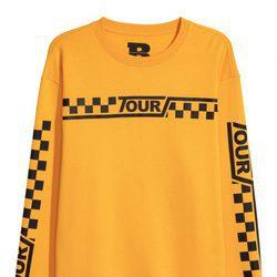 Sudadera amarilla cuadros Justin Bieber para H&M