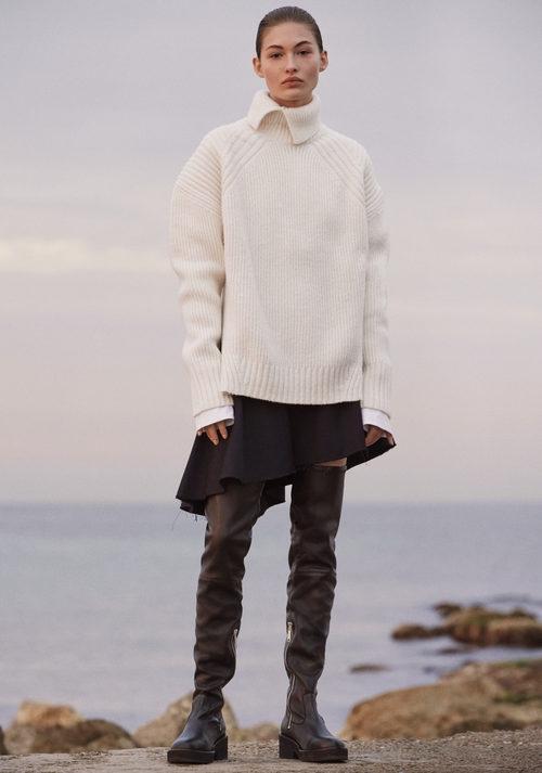 Jersey grueso blanco de H&M Studio otoño/invierno 2017/2018