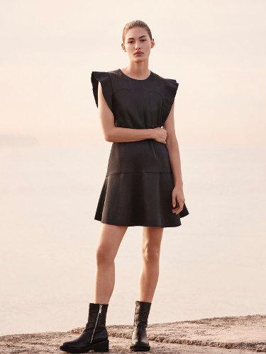Vestido de piel de H&M Studio otoño/invierno 2017/2018