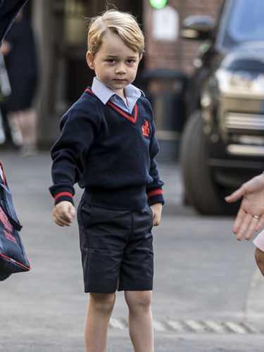 Jorge de Cambridge, el look del pequeño Príncipe en su primer día de cole