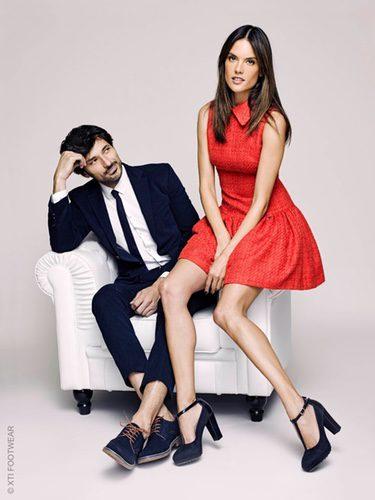 Zapatos de Andrés Velencoso y Alessandra Ambrosio de la colección Xti otoño/invierno 2017/2018