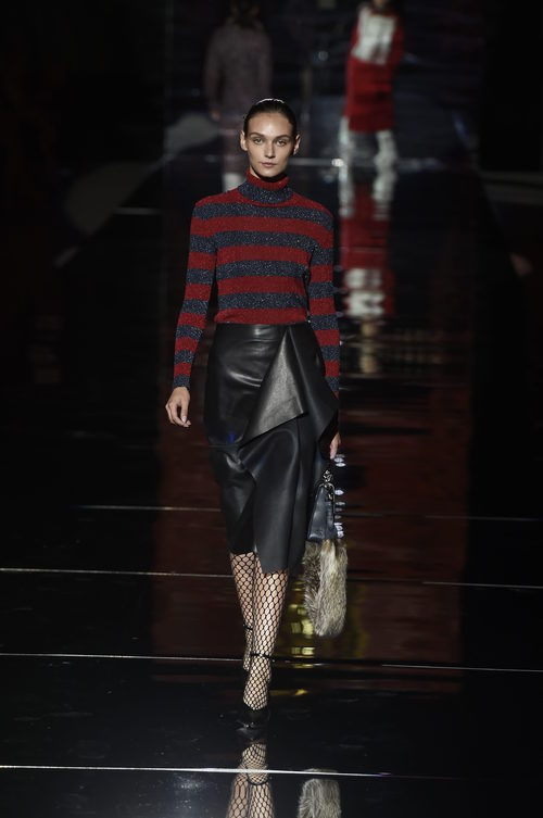 Camisa a rayas de Roberto Verino otoño/invierno 2017/2018 en la Madrid Fashion Week