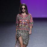 Vestido estampado de Custo Barcelona primavera/verano 2018 en la Madrid Fashion Week