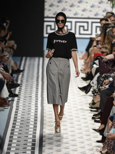 Camiseta homenaje a David Delfín de Jorge Vázquez primavera/verano 2018 en la Madrid Fashion Week