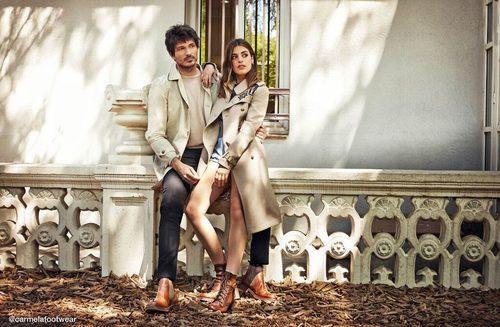 Dulceida y Andrés Velencoso con botas marrones para la nueva campaña de Carmela otoño/invierno 2017/2018