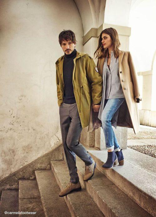 Dulceida y Andrés Velencoso posan con botines en la nueva campaña de Carmela otoño/invierno 2017/2018