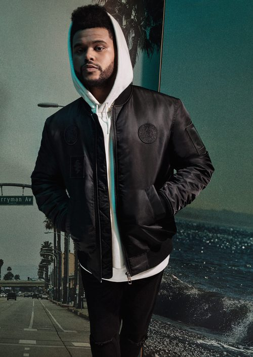 Bomber negra de la nueva colección de H&M con The Weeknd de otoño/invierno 2017/2018