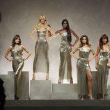Carla Bruni, Claudia Schiffer, Naomi Campbell, Cindy Crawford y Helena Christensen en la Milan Fashion Week primavera/verano 2018