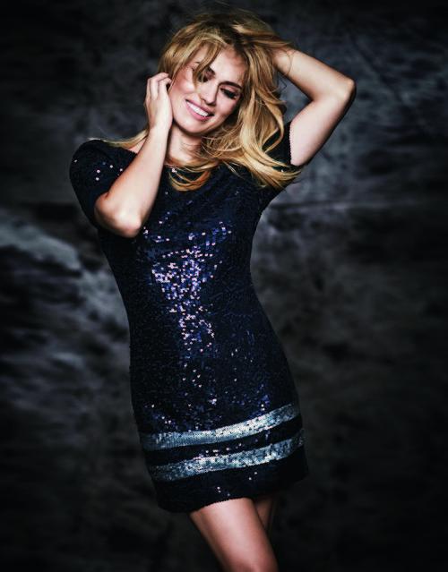 Vestido de lentejuelas de la colección otoño/invierno 2017/2018 de Patricia Conde para Dándara