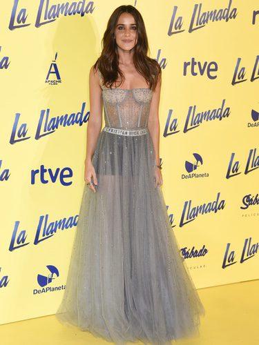 Macarena García en el estreno de 'La Llamada' con un vestido transparente