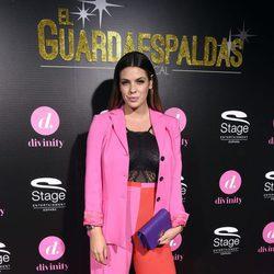 Laura Matamoros de rosa y rojo en el estreno de 'El Guardaespaldas'